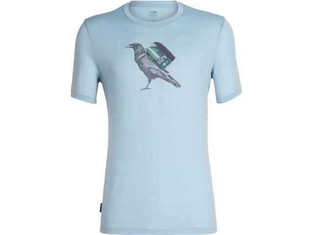 Icebreaker Tech Lite Ravencamp T-shirt Col ras-du-cou Homme, sky